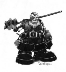 Steampunk Dwarf [Pencil : 2008]