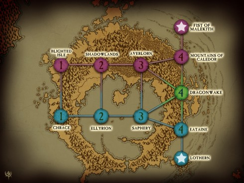 Warhammer: Age of Reckoning - Tier Map