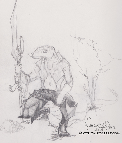 Sketch: Salamander Warrior
