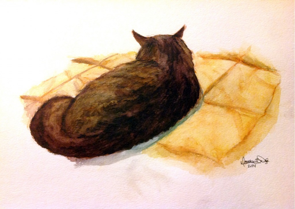Cat [Watercolor Pencils]