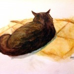 Cat - Watercolor Pencils - Jan 7, 2014