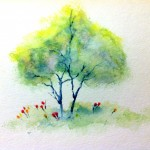 Tree - Watercolor Pencils - Jan 9, 2014